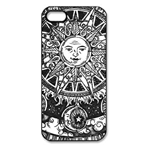 Case For Iphone 6 Plus 5.5 Inch Cover Hard Back Protective-Unique Design Cute Sun Moon Stars Space Nebula Case Perfect as Christmas gift(1)