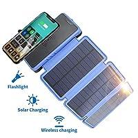 20000mAh Solar Power Bank with Wireless ...