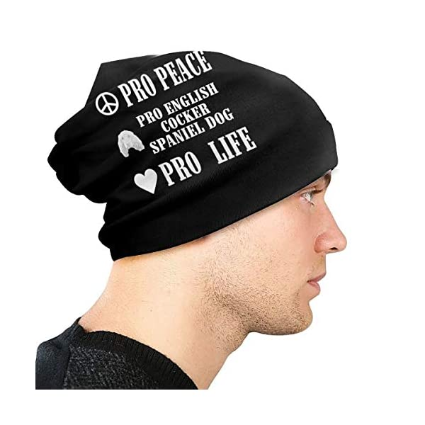 Pro Peace Pro Life Pro English Cocker Spaniel Dog Unisex Knit Hat Soft Stretch Beanies Skull Cap Hedging Cap,Beanie Hat 4