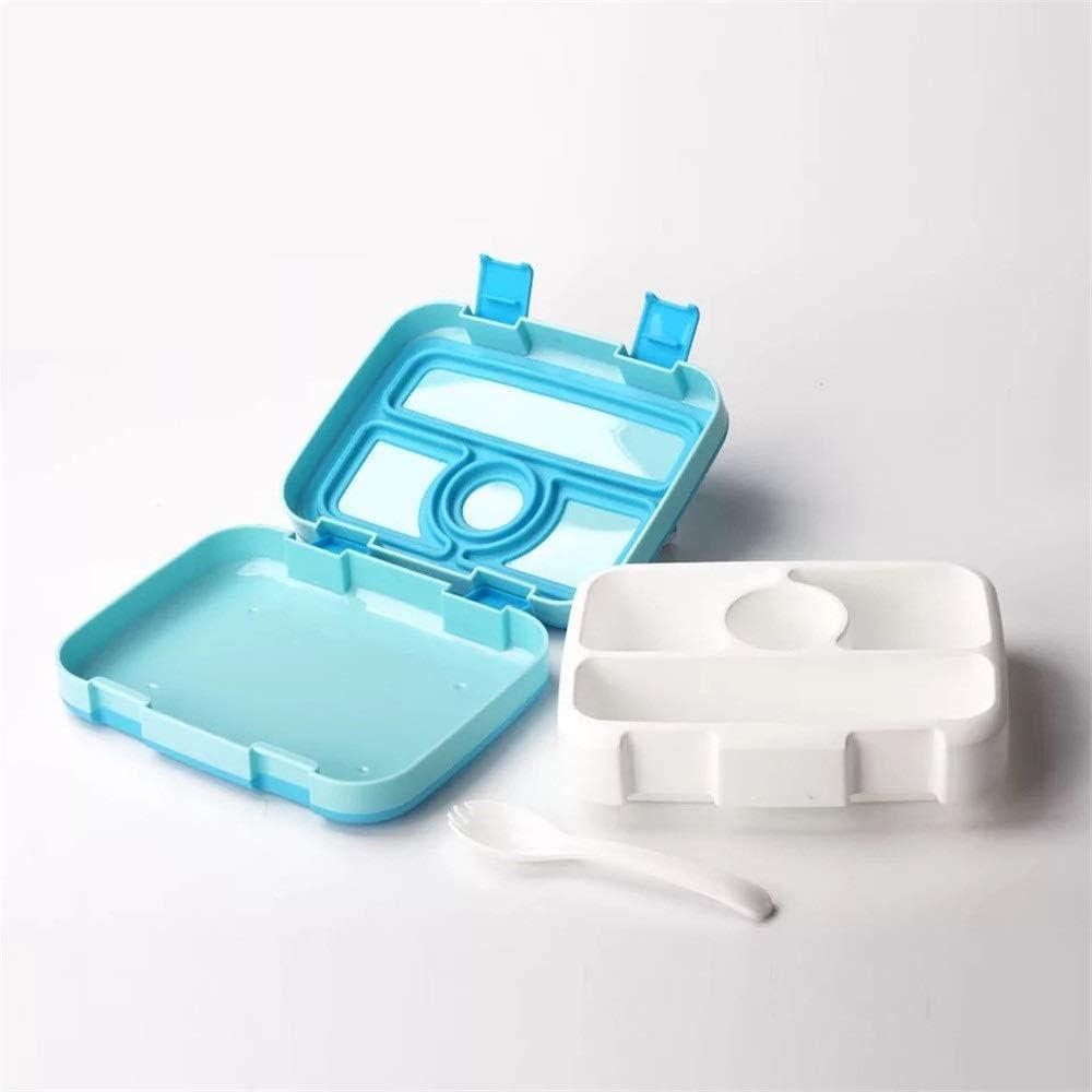 JOMSK Cinco cuadrícula Bento Box Estudiante Caja de Almuerzo del tirón Collar Multi Rejilla División Blanca Caja de Almuerzo Almuerzo Fuera (Color : Gray, Size : 21X16X6CM)