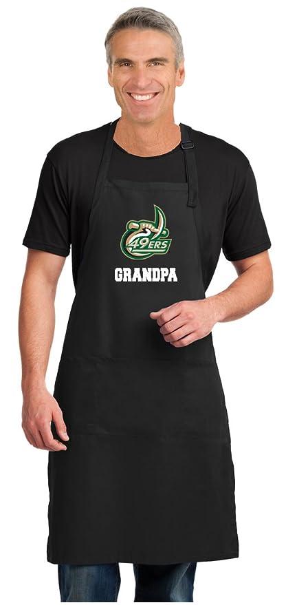 Broad Bay Deluxe Unc Charlotte Grandpa Apron Official Uncc Grandpa