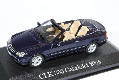 Minichamps Mercedes-Benz CLK Cabrio Dunkel Blau Fast Schwarz A209 2003-2010 1//43 IXO Modell Auto mit individiuellem Wunschkennzeichen