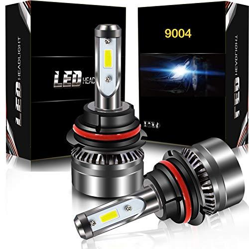 9004 LED Headlight Bulbs Conversion Kit, DOT Approved, AUSI D6 Series CSP Chips Low Beam Light Bulb- 6000LM 6000K Xenon White (2PCS)