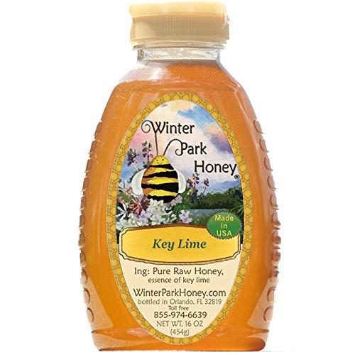 Key Lime Honey (Pure Natural Raw Honey) 16oz (Lime Honey)