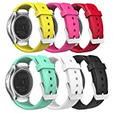 MoKo Gear S2 Watch Band, [6-PACK] Soft Silicone Replacement Sport Band for Samsung Gear S2 (S2 SM-R720/SM-R730 ONLY) Smart Watch, Multi Colors (NOT FIT S2 Classic (SM-R732 & SM-R735) & Gear Fit2)