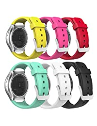 MoKo Gear S2 Watch Band, [6-PACK] Soft Silicone Replacement Sport Band for Samsung Gear S2 (S2 SM-R720 / SM-R730 ONLY) Smart Watch, Multi Colors (NOT FIT S2 Classic (SM-R732 & SM-R735) & Gear Fit2)