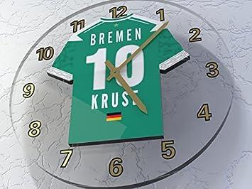 MyShirt123 - Reloj de pared personalizable, diseño de camisetas de equipos de la