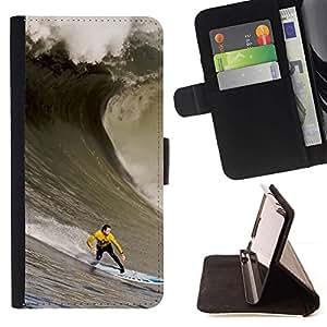 Momo Phone Case / Flip Funda de Cuero Case Cover - Enorme Ola Surfe;;;;;;;; - Samsung Galaxy Note 5 5th N9200