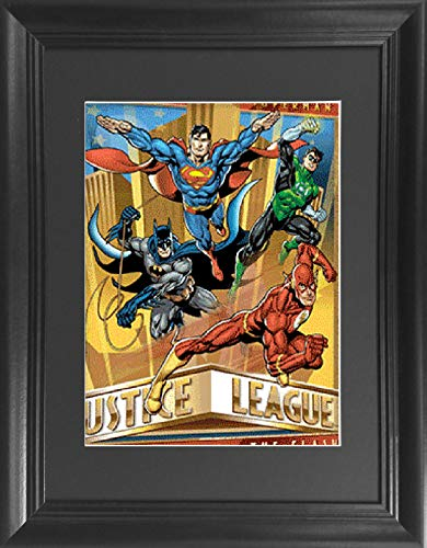 Justice League Batman, Superman, Flash, Green Lantern Framed DC Comics 3D Lenticular Poster - Life Like 3D Art Pictures, Lenticular Posters, Cool Art Deco, Unique Wall Art ()