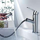 Kitchen Tap Pull Out Faucet Sink Basin Mixer Taps Single Lever With Standard Connector