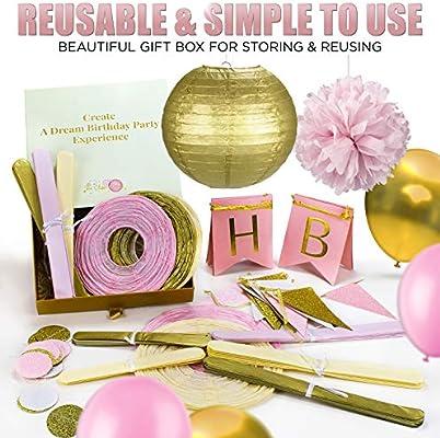 Amazon.com: 31 piezas de oro rosa y crema juego de ...