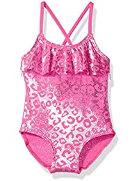Baby Girls' Inf Foil Cheetah Print One Piece Swimsuit