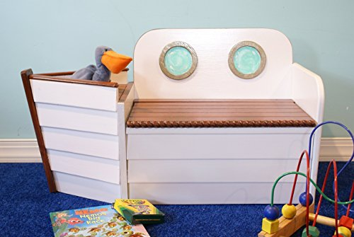 Wooden Boat toy chest Toy box Ship bench, Toy Organizer, Nautical deco, Toy storage, Wood box, kids furniture, Coastal Deco, Playroom chair, FREE SHIPPING by Adamz Originals