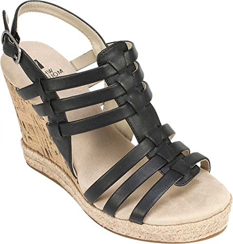 Scarpe Da Montagna Bianche Veronique Womens Black Wedge