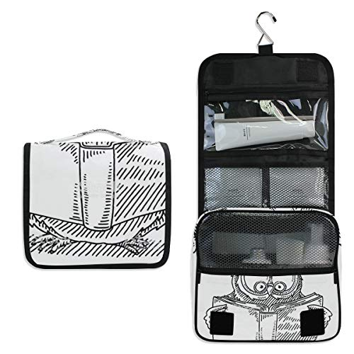 Travel Hanging Toiletry Bag Wise Owl Reading Book Cosmetic, Makeup and Toiletries -