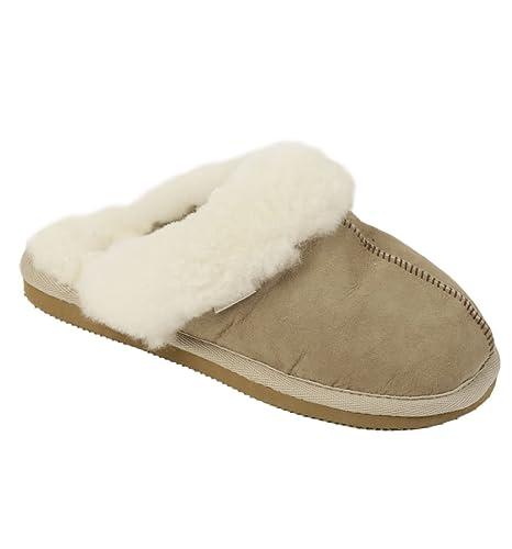 Shepherd - Zapatillas de estar por casa para mujer Beige piedra: Amazon.es: Zapatos y complementos