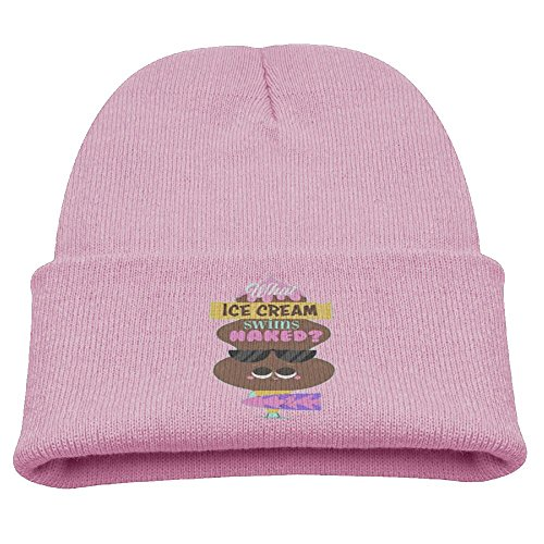Msiiks Chocolate Ice Cream is Sweet Children's Knit Hat, Warm and Dirty Bones Hat. (Youngsters Rack Coat)