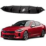 M&S Matte Black Rear Bumper ABS Body Diffuser Guard for KIA Stinger 17-18