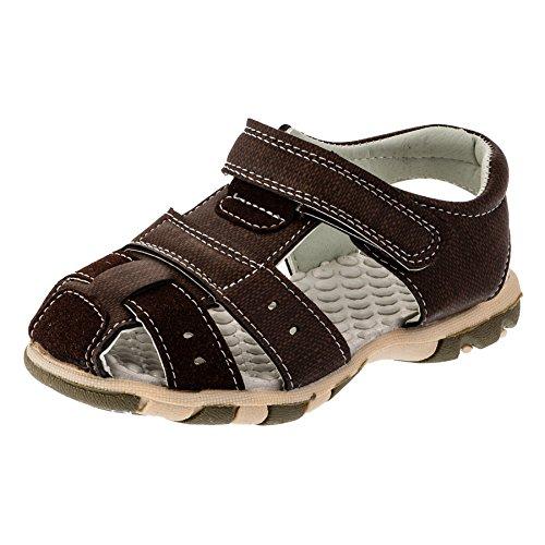 Mikelo Shoes - Sandalias de vestir de Material Sintético para niño #188br Braun