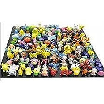 Fun Brick TM Pokemon Pikachu Monster Mini Action Figures Toy Lot Of 24 Piece