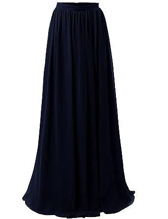 7eaf12c2bb Duraplast Women's Plus Size Long Skirt Flowing Chiffon Formal Skirts XS  Black