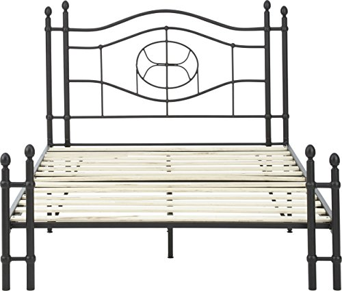 Flex Form Evie Metal Platform Bed Frame / Mattress Foundation with Headboard and Footboard, Queen by Flex Form (Image #4)