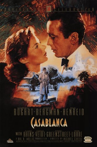 Bergman Movie Poster - Casablanca Poster Movie S 11x17 Humphrey Bogart Ingrid Bergman Paul Henreid Claude Rains