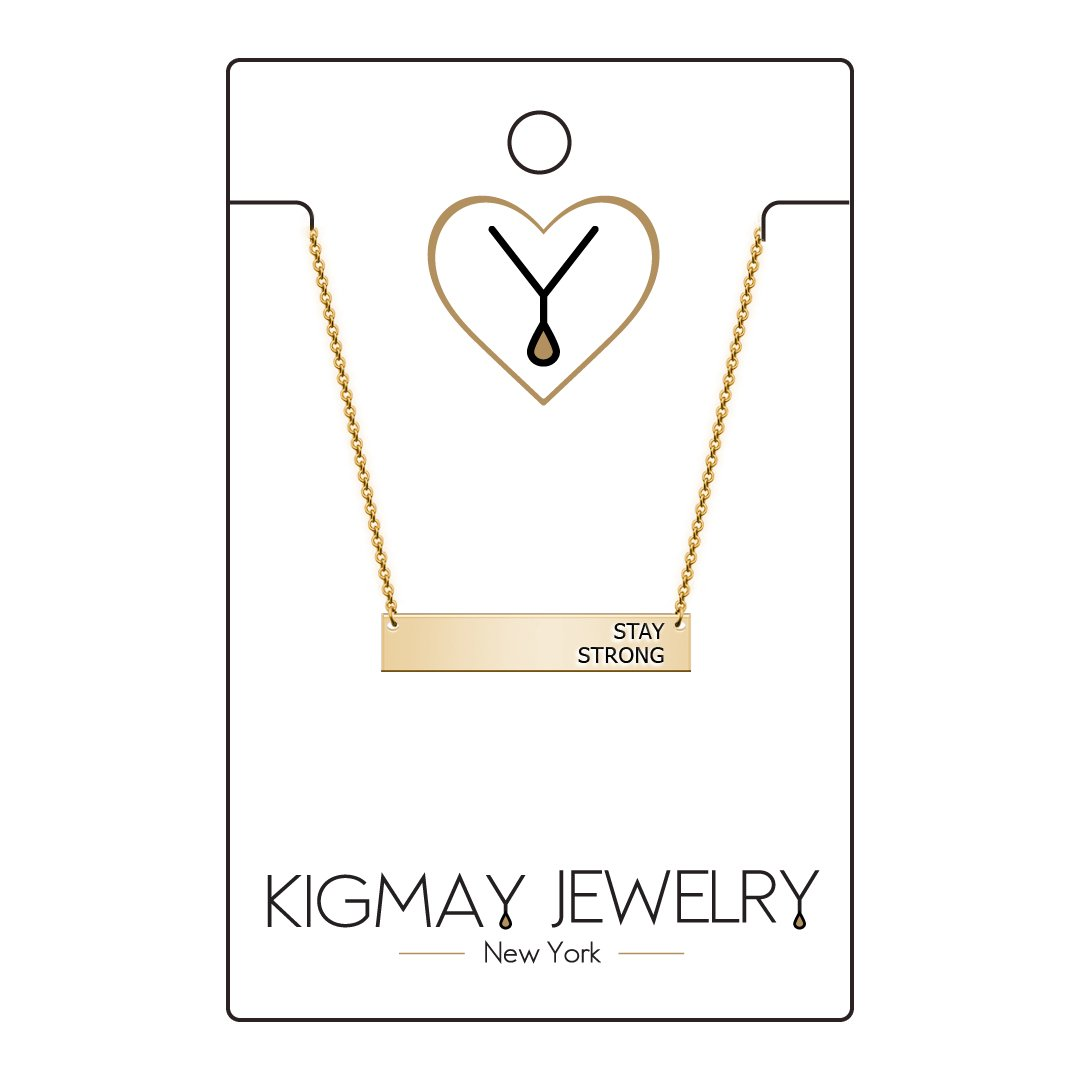 Amazon Kigmay Jewelry Stay Strong Inspirational Horizontal