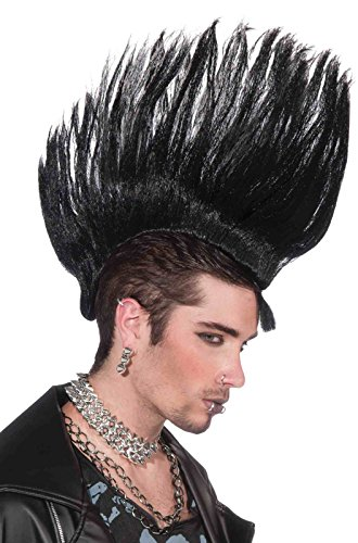 Forum Novelties Punk Rock Mohawk Hairpiece, Black, One Size