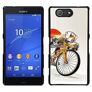 EJOY---Cubierta de la caja de protección la piel dura para el ** Sony Xperia Z3 Compact ** --Stormtrooper de bicicletas