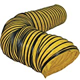 J&D VICSDUCT20 22''W x 20'L Flexible Safety Yellow Ducting With Adjustable Belt