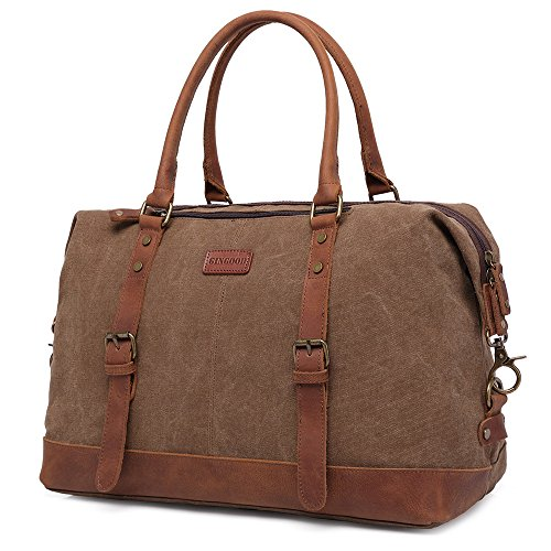GINGOOD Canvas Leather Weekender Overnight product image