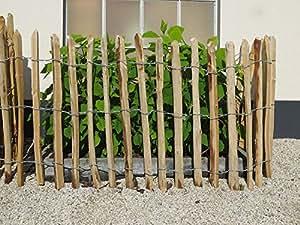 Estilo Leal stakete Separación staketen Valla Castaña Agudos 50cm–200cm, Rollo de 5Metros, 3Varios. Latte Entre