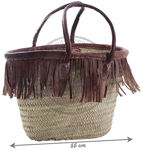 and tassels leather Basket Palm with Basket tassels Palm leather with Basket and 7BwSfzBxq