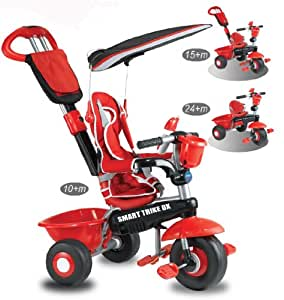 Smart Trike Deluxe 3 In 1 Red Black