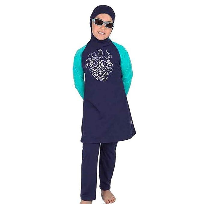 Amazon.com: DIABO traje de baño musulmán de 2 piezas, traje ...