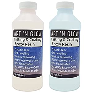 Clear Casting and Coating Epoxy Resin – 16 Ounce Kit