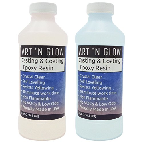 Clear Casting and Coating Epoxy Resin - 16 Ounce Kit (Best Tape To Paint Over)