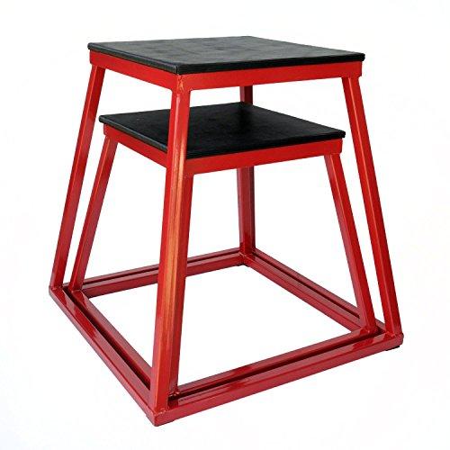 Plyometric Platform Box Set- 18'', 24'' Red by Ader Sporting Goods