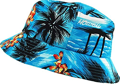 KBETHOS KBM-027 AQU Hawaiian Floral Print Bucket Hat Cap in Dubai - UAE  e307c9a7a5f