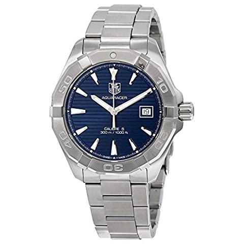 TAG Heuer Men's 'Aquaracer' Swiss Automatic Stainless Steel Dress Watch, Color: Silver-Tone (Model: (Bezel Tag Heuer)
