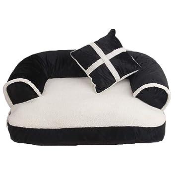 LJSHU Mascota Cama Extraíble Y Lavable Suave Y Cómoda Perrera para Perro Y Gato De Felpa Tipo De Sofá Casa del Perro: Amazon.es: Deportes y aire libre