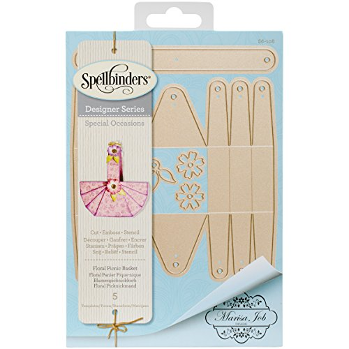 Spellbinders S6-108 Shapeabilities Floral Picnic Basket Etched/Wafer Thin Dies (Shapeabilities Collection)