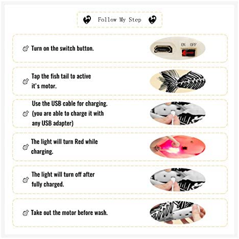 Ospetty Halloween Catnip Moving Fish Cat Toy Electric Dancing Fish Catnip Kicker Interactive Realistic Floppy Fish Toy Lifetime Replacement Guarantee 21