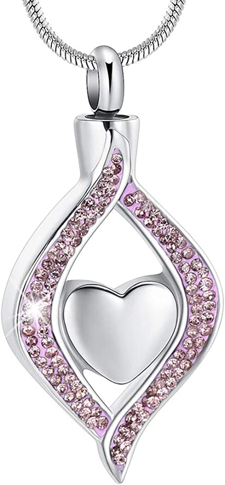 The Eye of My Heart Cremation Urn Keepsake Memorial Jewelry for Urn Locket Stainless Steel Ashes Pendant /& Free 20 Inches Chain