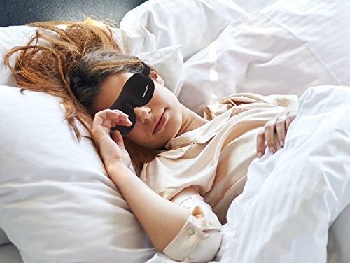 3D Sleep Mask made of Nature Material. Best Sleeping Mask Eye Cover for Sleep, Travel, Nap, Meditation sleep helper for Men, Women, with Earplug