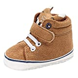 Autumn Baby Shoes Kid Boy Girl Fox Head Lace Cotton Cloth First Walker Anti-Slip Soft Sole Toddler Sneaker