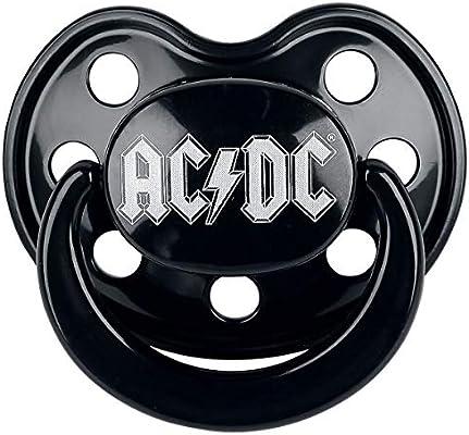 AC/DC Logo Chupete Negro 0-6 Monate: Amazon.es: Bebé