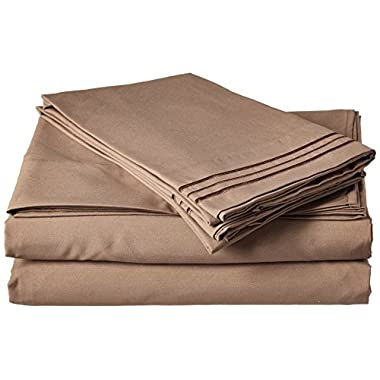 Elegant Comfort 4-Piece Egyptian Quality Bed Sheet Set with Deep Pockets, California King, Taupe