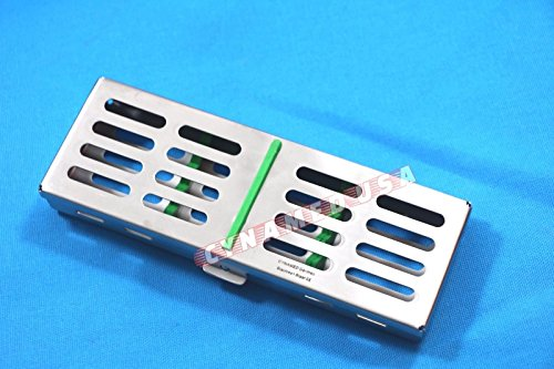 German Stainless 1 Each Dental Autoclave Sterilization Cassette Rack Box Tray for 5 Instrument